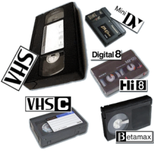 images of various tape media